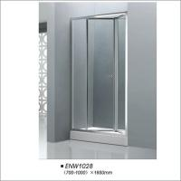 China Professional Bathroom Folding Door Shower Screen Tempered Glass Easy Installation on sale