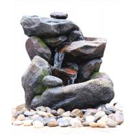 China Outdoor Rock Water Fountains , Stone Waterfall Fountain With Cement Material wholesale