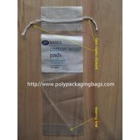 China LDPE Clear Plastic Bags With Drawstring For Cotton Swab / Q - tips on sale