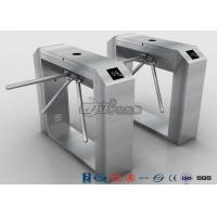 China Fingerprint Reader Tripod Turnstile Gate , Full Automatic 304 Stainless Steel Turnstile wholesale