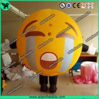 China Promotional Inflatable Mascot Costume Crying Face Ball Inflatable Walking Cartoon wholesale