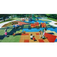 China Outdoor Playground Rubber Mats / Poured Rubber Playground Surface on sale