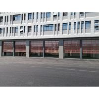 China automatic aluminum frame glass panel overhead sectional garage door on sale