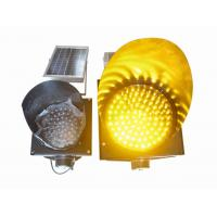 China 200mm Waterproof Solar LED Traffic Light Durable , Yellow Solar LED Warning Light wholesale