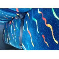 China Vintage Blue Classic Car Seat Upholstery Fabric Printed Bonding wholesale