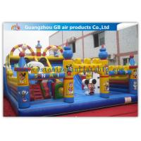 China Commercial Inflatable Amusement Park Castles / Kids Toys Mickey Mouse Bounce House wholesale