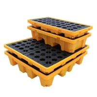 Quality CE Drum Spill Containment Pallet for Chemical Storage , 2 Drum Tank Safety Spill for sale