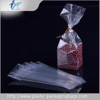 China Clear square Block Bottom Bags opp plastic food packaging bag accept OEM/ODM wholesale