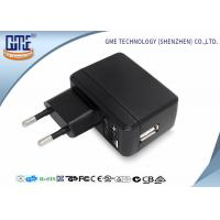 China Phone Charging 2 Round PIN 5V 2A Single Usb Plug Adapter With Energy Class VI wholesale