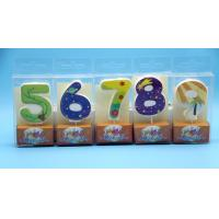 Buy cheap Lovely 0-9 Number Birthday Candles Set With Glitter Decoration Smokeless from wholesalers