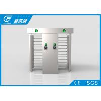 China Football Court  Full Height Turnstile Double Door Fingerprint Reader 30 Person / Min wholesale