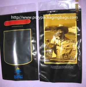 China Six Cigar Plastic Bags / Cigar Ziplock Bags OPP PE Laminated Material wholesale