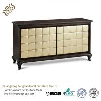 China Luxurious Antique Walnut Wood Console Table With Gold - Leaf For Villa Lobby wholesale