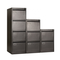 China Home Office A4 Size Vertical Lateral 4 Drawer Filing Cabinet on sale