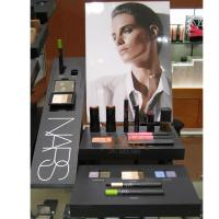 China Cosmetic Plexiglass Retail POS Displays Black For Lips / Eyes Cleans wholesale