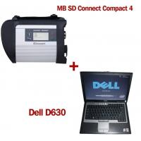 China MB SD Connect Compact 4 Star Diagnosis 2017.12V Software Version Plus Dell D630 Laptop wholesale