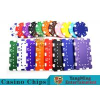 China 11.5g - 32g Clay Poker Chips With Sticker With Unique Dice Fancy Mold Design on sale