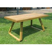 China Patio Dining Tables Outdoor Teak Table Long Shape Aluminum Garden Tables wholesale