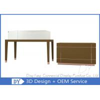 China Simple Nice Matte Brown Jewelry Shop Counter / Jewelry Counter Showcase wholesale