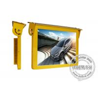 China 19 Golden Color Bus Digital Signage , 3G Led Bus Advertising Display Screen 12 Or 24 Volt wholesale