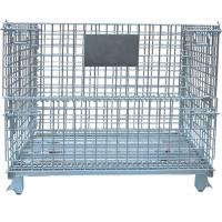 China Warehouse Foldable Wire Container , 4 Gauge Wire Mesh Pallet Containers wholesale