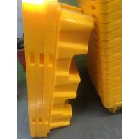 Quality Polyethylene 2 Drum Spill Containment Pallet For Transship Chemical Barrels / for sale