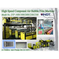China 1200 - 2000mm Width PE Air Bubble Film Machine With Back Unwinder Station wholesale