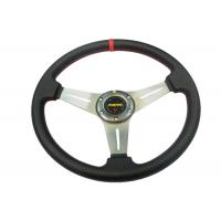 China PU Material Race Car Steering Wheel Protect Hands From Over - Hot / Cold wholesale