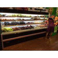 China Black Open Counter Display Fridge For Fruits Self Contained Cooling wholesale