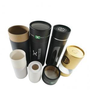 China Custom Kraft Paper Black Tube Packaging Round Gift Box For Skincare wholesale