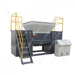 China High Torque Used Plastic Shredder Machine , Double Shaft Plastic Scrap Grinder Machine wholesale