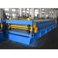 China Color Steel / Galvanized Steel Roofing Sheet Roll Forming Machine With Double Layer Design wholesale