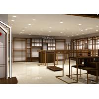 Quality Luxury Boutiques Retail Clothing Displays Antique Copper Brush Stain Steel for sale
