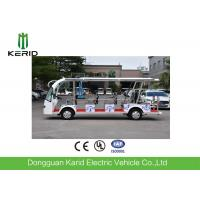 China 14 Seater New Energy Mini Pure Electric City Sightseeing Bus Wiht Security Chains on sale