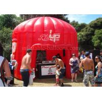 China Red Air Inflatable Exhibition Tent Dome 1300D PVC With Logo Printing wholesale