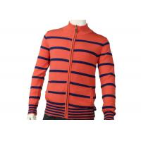 China Zipper Cardigan Sweaters Cute Orange Mens Striped Sweater Medium Cardigan wholesale