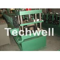 China GCr15 Steel Cable Tray Roll Forming Machine For Storage Rack , Rack Beam 12-15m/min wholesale