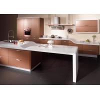 Sliver Champagne Lacquer Kitchen Cabinets , High Gloss Kitchen Storage Cabinet