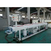 China PE PERT Plastic Pipe Extrusion Line With Saw Blade Cutting Pneumatic Controlled on sale