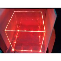 China Customize Colored Acrylic Acrylic Storage Boxes With Cube Lights wholesale