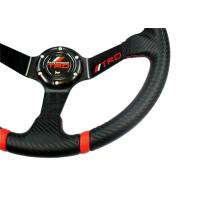 Quality 14 Inch Soft Touch Race Car Steering Wheel With Ergonomic Structure Design for sale