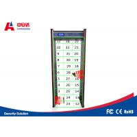 China Court Door Frame Metal Detector 45 Zones LCD Screen Infrared Remote Controller wholesale