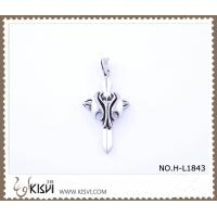 China Hot sell 316 Stainless Steel Cross & Wing Pendant H-L1843 wholesale