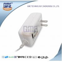 China AC DC 12V 2A Power Adapter , US Overseas Plug Adapters CEC Level VI wholesale