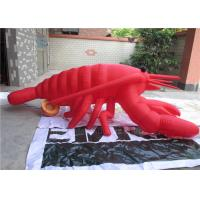 China Silk Printing Large Inflatable Model Customized Red Inflatable Lobster wholesale