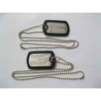 China 50*30mm Size Custom Metal Dog Tags , Aluminum Dog Tags With Ball Chains wholesale