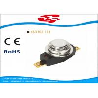 China Automatic Reset 3/4' Bimetal Disc Thermostat KSD302-113 with UL VED certificate wholesale