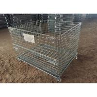 China Multi Color Metal Pallet Cage , Galvanized Spray Wire Mesh Pallet Cages For Storage on sale
