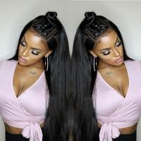 China Straight Aligned Cuticle 250% 13x4 Lace Frontal wholesale