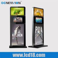 China Indoor 32 Inch Lcd Advertising Player Touch Screen Kiosk Digital Signage Totem Three Screen wholesale